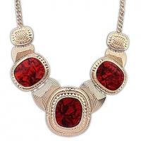 Angelafive Металл мигающий Литературный Темперамент Ожерелье (красный)