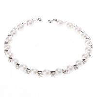 Браслет с жемчужинами и кристаллами #00533162