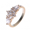 18K S & V женского розовое золото Покрытие Цветочные кольцо циркон BBR-00266_1