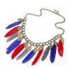 Женская мода Великолепная перо кисточкой ожерелье 46 * 2 * 0,3 см #01108512