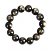 Obsidian Baihe Женщин 14мм черный браслет