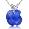 Женская Синий Серебро 925 Яблоко Cystal Подвеска D0105BL-L (16 * 16 мм)