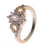 18K S & V женского розовое золото Покрытие Циркон Кольцо BBR-00271_1
