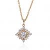 Женская золото 18K Циркон ожерелье D0039 #01020943