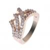 18K S & V женского розовое золото Покрытие Циркон Кольцо BBR-00274_1