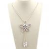 11см цветок подвеска 74см длинное ожерелье DFMY'S