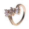 18K S & V женского розовое золото Покрытие Циркон Кольцо BBR-00270_1