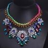 Summer Road Новый Цвет Gem Многоэтажные Weave Ожерелье