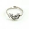 Винтаж Diamonade форме сердца кольцо #01027097