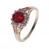 18K S & V женского розовое золото Покрытие Красный циркон кольцо BBR-00268_1