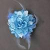 Магия принцессы House Rose головной убор Форма / корсаж / запястье цветок с пером 5027-5 #00758392