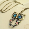 Винтаж вырез Сова Форма ожерелье #01026872