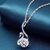 Женская 925 Silver Swan Форма Кулон