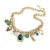 Женская Великолепный красочный Gem дворец ожерелье 40 * 16 * 3 см #01108391