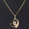 Женская золото 18K Циркон ожерелье D0085 #01020946