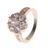 18K S & V женского розовое золото Покрытие Циркон Цветочный Кольцо BBR-00272_1