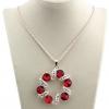 6 см красный бриллиант кулон 73см длинное ожерелье DFMY'S