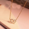 Diamonade форме сердца ожерелье #01026857