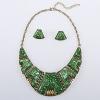 Длинные Женская Зеленый Национальный ювелирные изделия Костюм