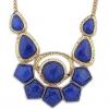 Angelafive Trend Punk Камень ожерелье (синий)