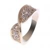 18K S & V женского розовое золото Покрытие Циркон Кольцо BBR-00277_1