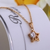 Женская золото 18K Циркон ожерелье D0624 #01020931