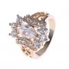 18K S & V женского розовое золото Покрытие Циркон Кольцо BBR-00281_1