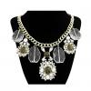 Женская мода большой цветок Gem ожерелье 40 * 7 * 0,3 см #01108519