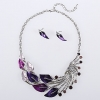 Длинные Женская Фиолетовый Павлин ювелирных изделий формы костюм