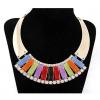 Женская Европа Великолепная Красочные ожерелье Сектор 38 * 12 * 3,5 см #01108532