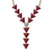 Angelafive Ретро Большой Треугольники Jewel ожерелье